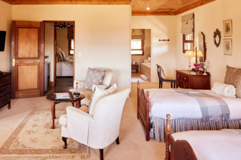Weltevreden Manor luxury self catering accommodation family double room
